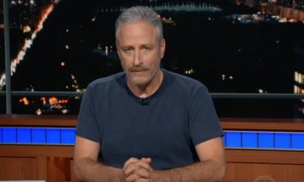Jon Stewart's personal message to cruel and dickish Trump on The Late Show