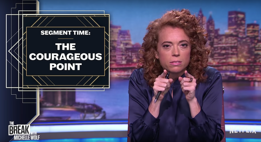 "Michelle Wolf ""destroys"" other comedy talk shows in Segment Time"