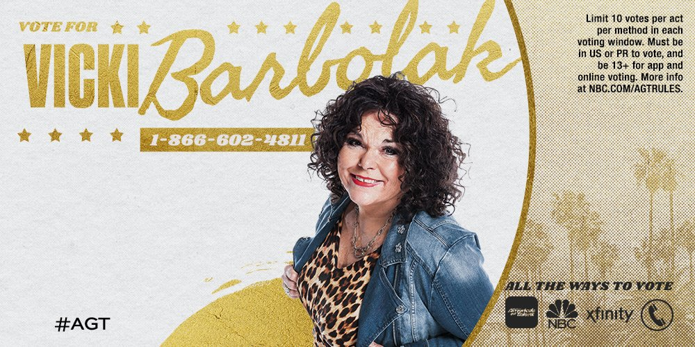 Vicki Barbolak performs on the first live show of America's Got Talent 2018