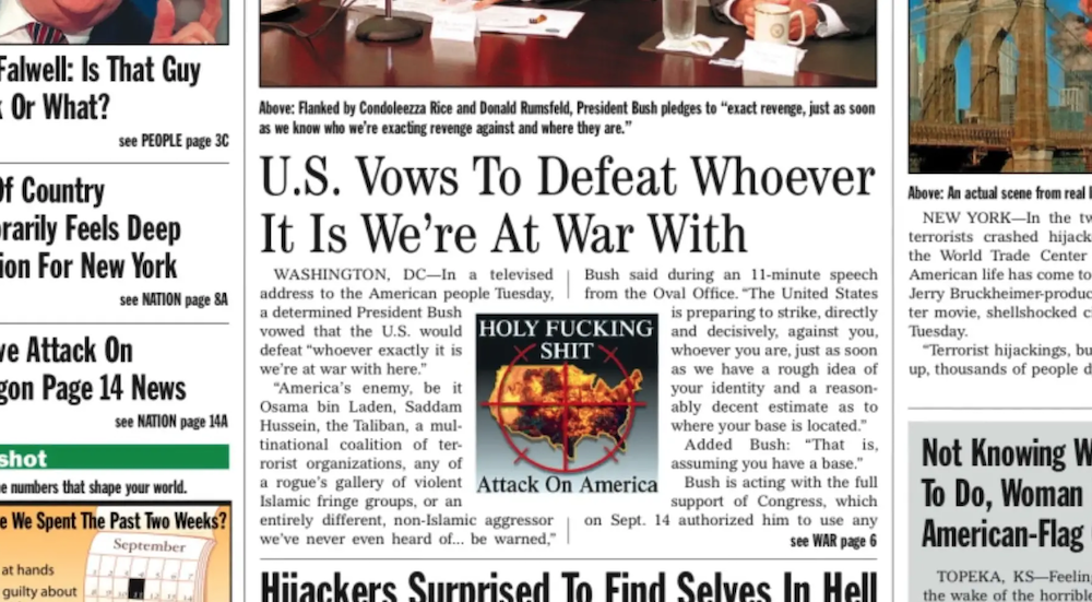 """Too Soon? Documentary recalls """"The Onion"""" issue following 9/11"""