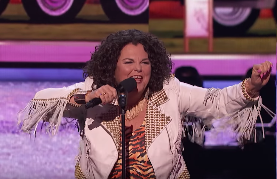 Vicki Barbolak performs on the semifinals of America's Got Talent 2018