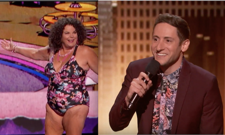 Vicki Barbolak and Samuel J. Comroe perform on the finals of America's Got Talent 2018