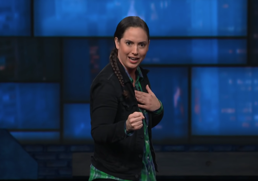 Caitlin Peluffo made her network TV debut on The Late Show with Stephen Colbert
