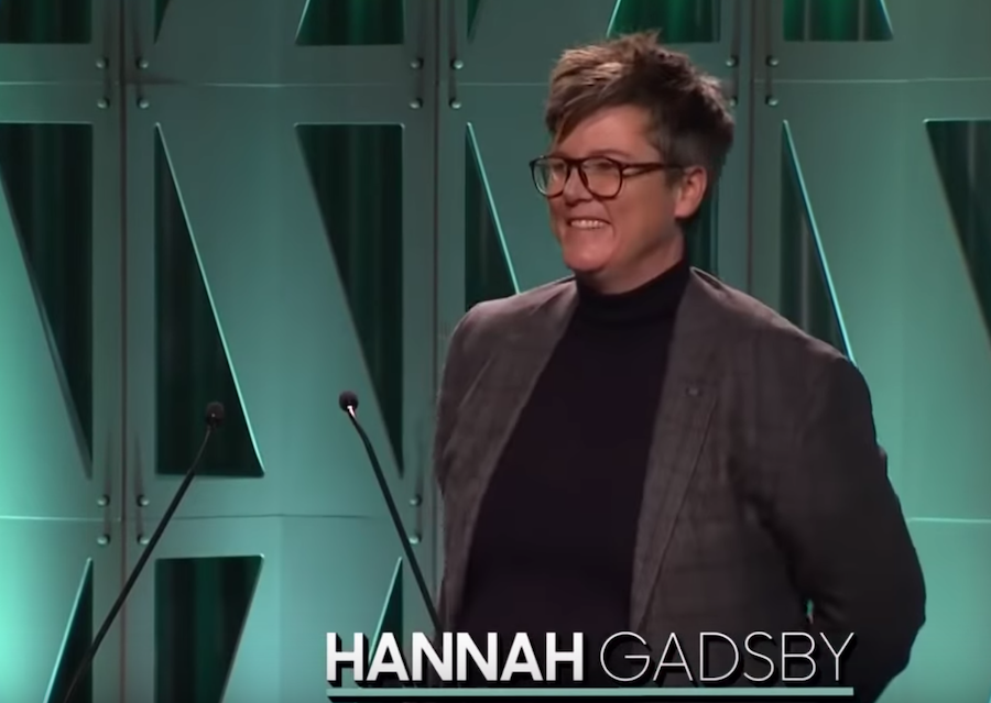 """Hannah Gadsby addresses """"the good men"""" at the 2018 Women in Entertainment Gala"""