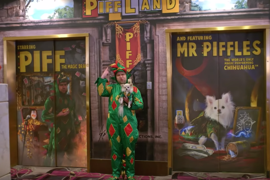 Piff The Magic Dragon and Taylor Williamson perform on AGT: Champions