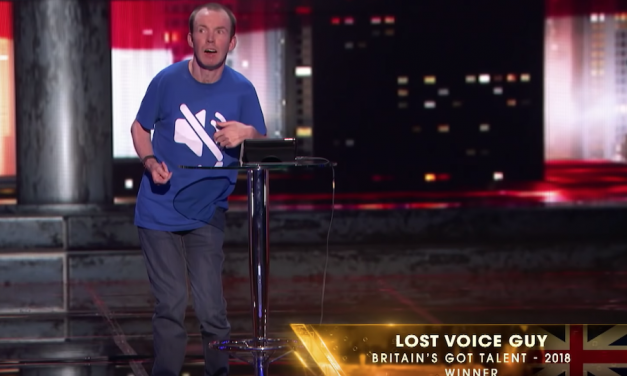 Lost Voice Guy performs on America's Got Talent: The Champions