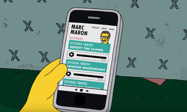 Marc Maron played himself interviewing Krusty The Clown on The Simpsons