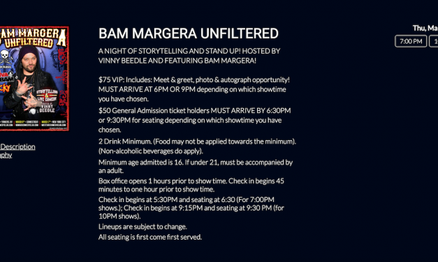 """West Side Comedy Club cancelled Bam Margera's NYC stand-up debut after """"Jackass"""" of a day"""