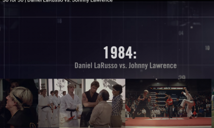 "Enjoy this pitch perfect 30 For 30 treatment of ""The Karate Kid"" #TBT"