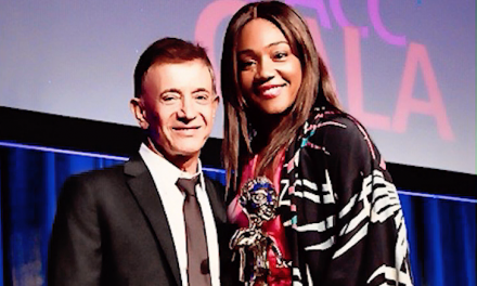 Tiffany Haddish honors Jamie Masada with LA City College Foundation award
