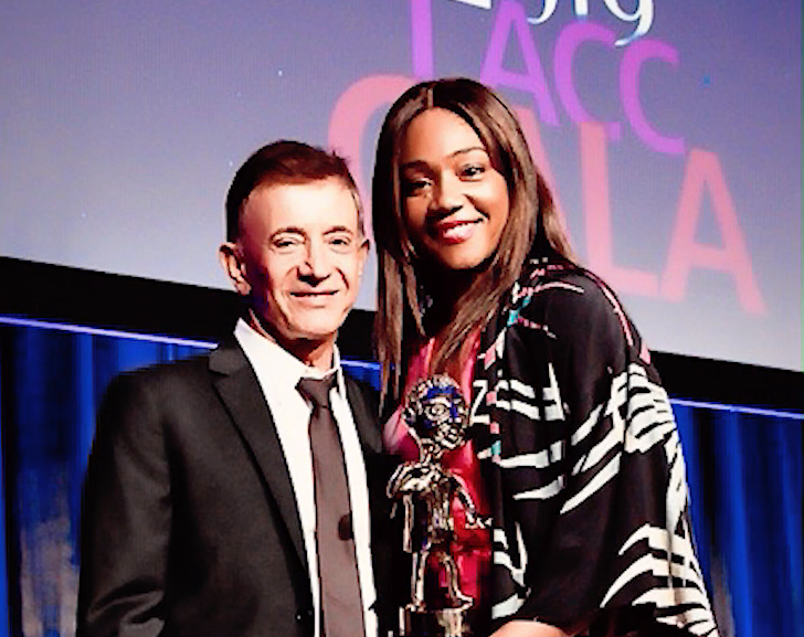 Tiffany Haddish honors Jamie Masada with LA City College Foundation award