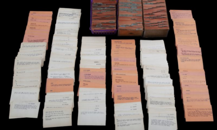 Card catalogue of jokes for the late Bob Hope sold at auction