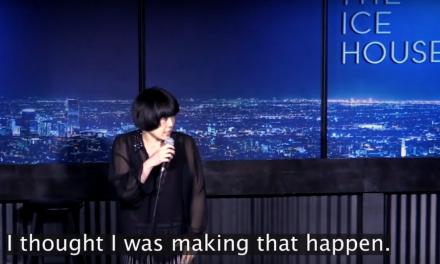 Atsuko Okatsuka performs onstage at The Ice House during an earthquake
