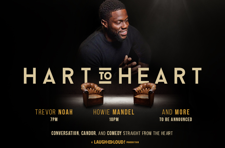 "Kevin Hart is launching an interview podcast, and ""Hart to Heart"" starts at Just For Laughs in Montreal"