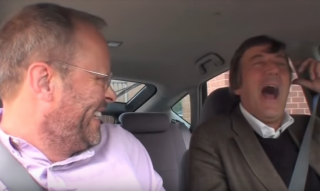 Jerry Seinfeld mocks other shows that interview celebs in cars as copycats, before being reminded he wasn't first to do it, either