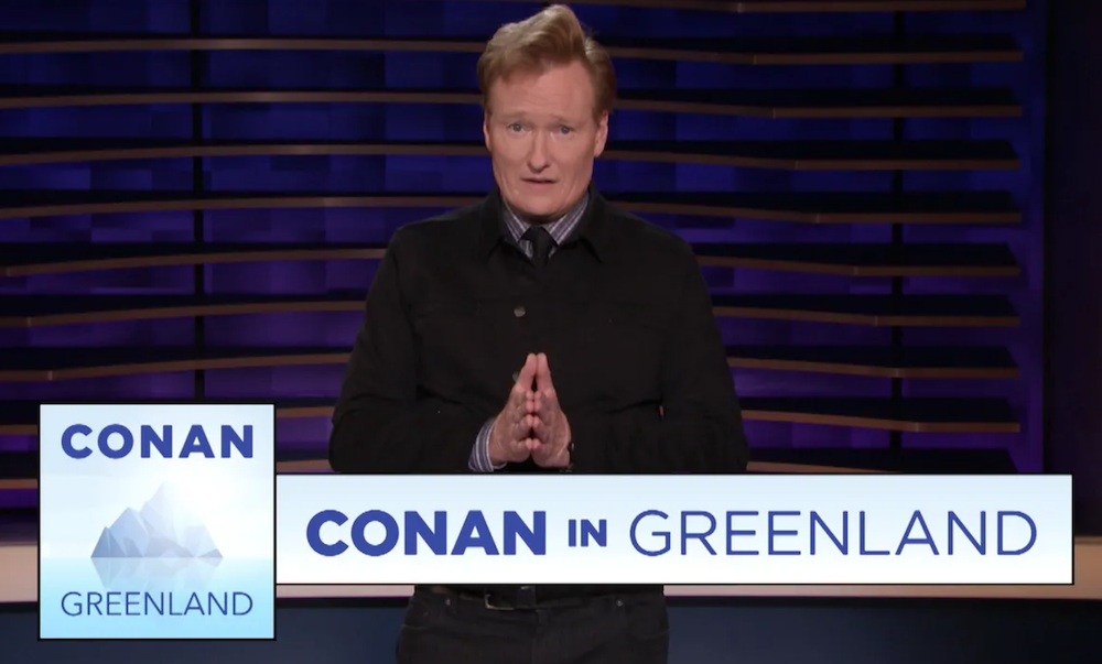 Conan's going to Greenland