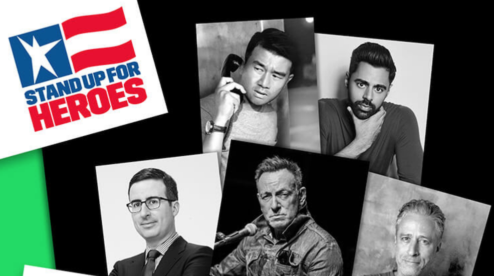 Jon Stewart, John Oliver, Hasan Minhaj and Ronny Chieng join Bruce Springsteen for 13th annual Stand Up For Heroes