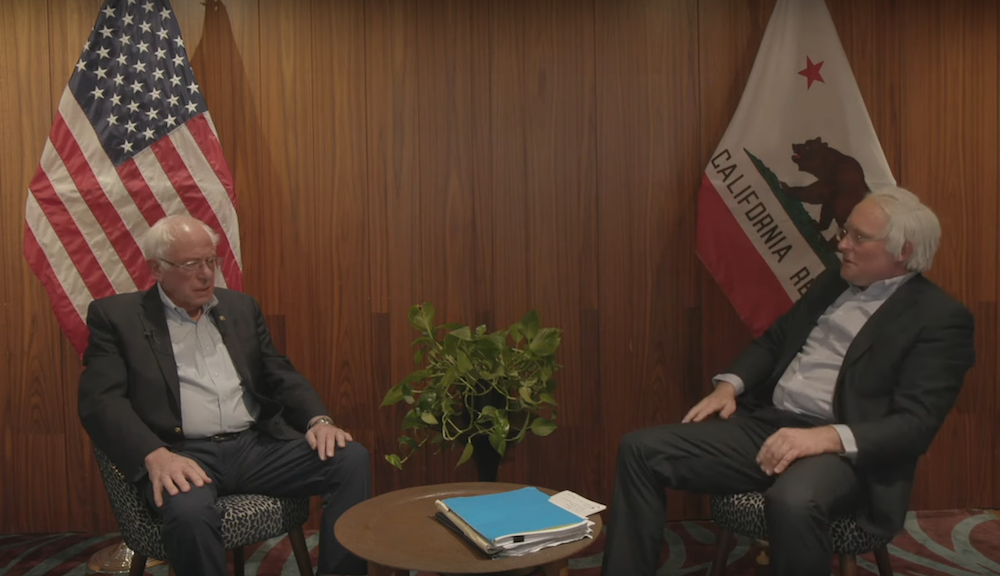 Bernie Sanders sits down with James Adomian for Bernie vs. Bernie