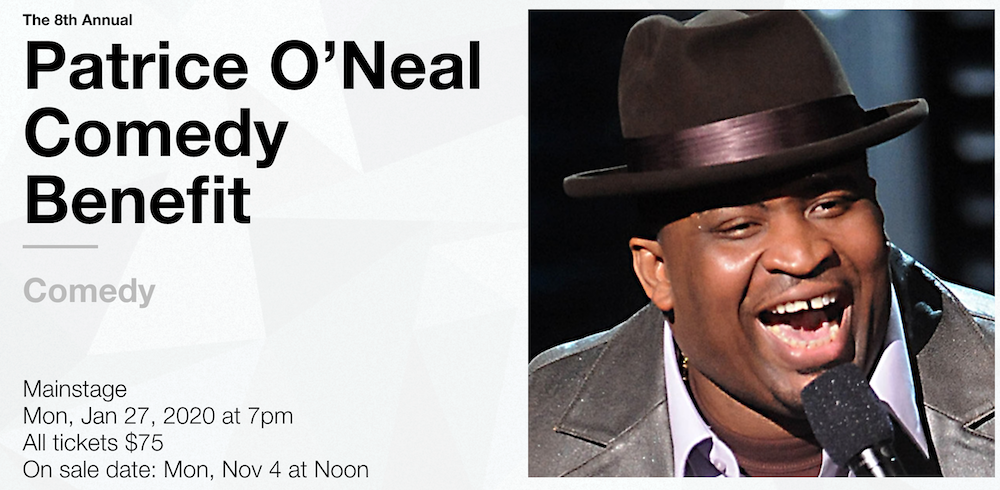 Announcing the 8th annual Patrice O'Neal Comedy Benefit