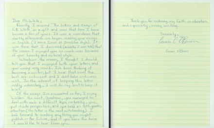 Conan O'Brien's high-school letter to E.B. White