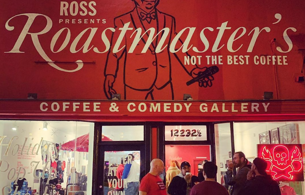 You had to be there: Jeff Ross popped up a Roastmaster's gift shop in Studio City