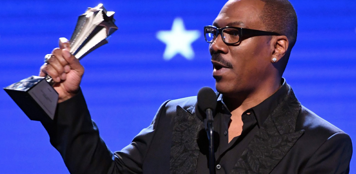 Eddie Murphy accepting the Lifetime Achievement honors from the 2020 Critics Choice Awards
