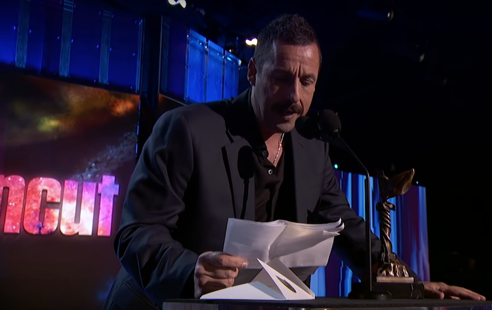 Watch Adam Sandler accept best actor at the Independent Spirit Awards