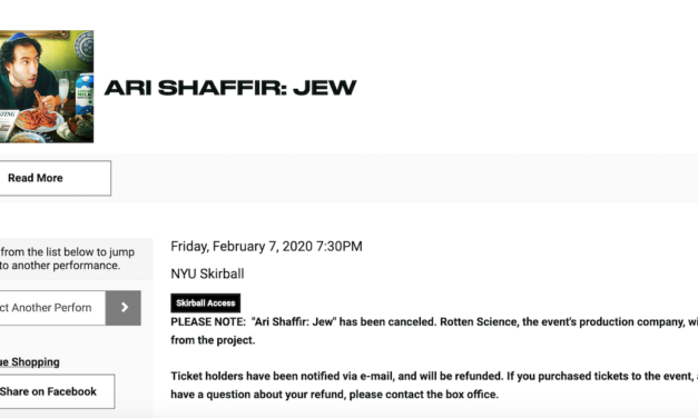 Ari Shaffir cancels his special taping at last minute after production company bails