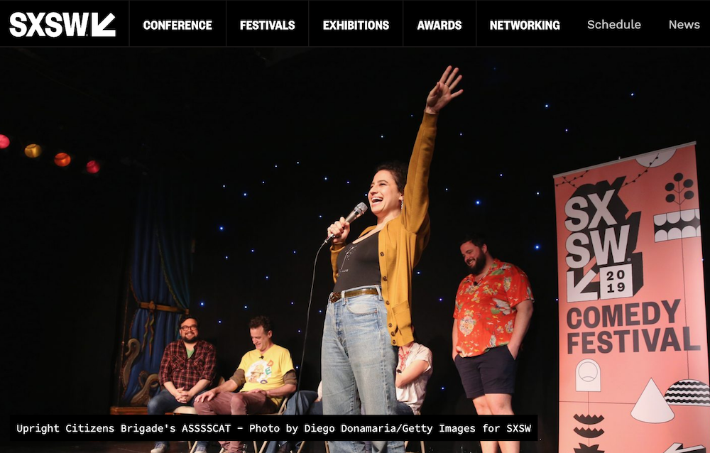 Which comedians will be going to SXSW 2020