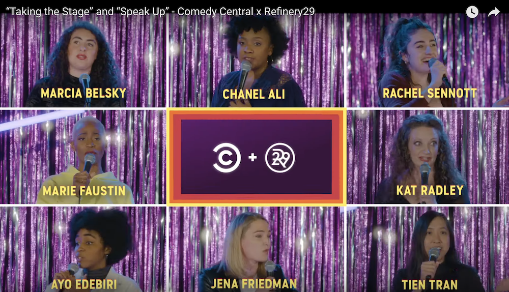 "Comedy Central and Refinery29 present ""taking The Stage"" series that Allows Women to ""Speak Up"""