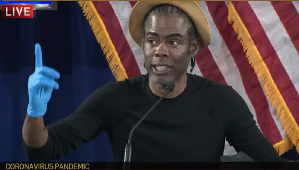 Chris Rock and Rosie Perez Joined New York Governor Andrew Cuomo for His Daily Briefing on May 28, 2020