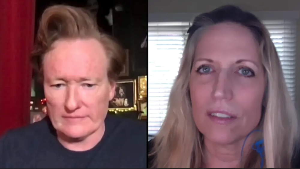 Laurie Kilmartin, a writer for Conan, tells Conan O'Brien about Losing her Mother to COVID-19