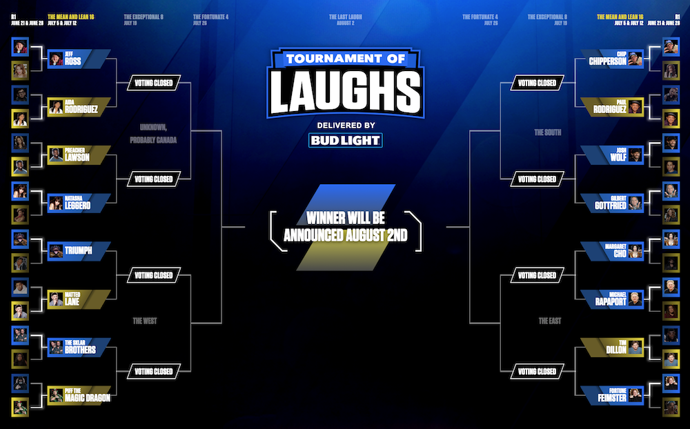 Tournament of Laughs: Week 4 matchups