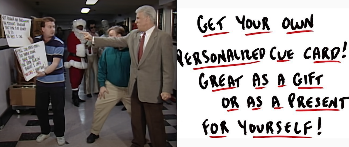 NBC's Late-Night/SNL Cue Card Guy Making Customized Cards During Quarantine
