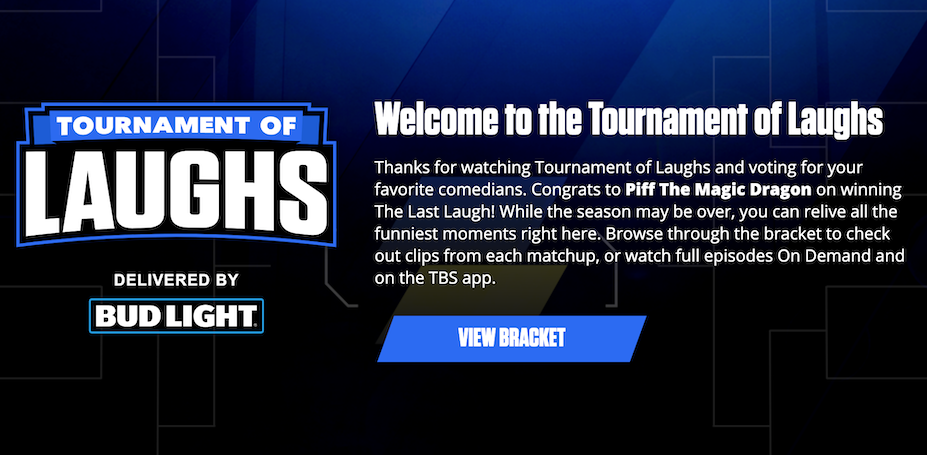Who Won Tournament of Laughs on TBS?