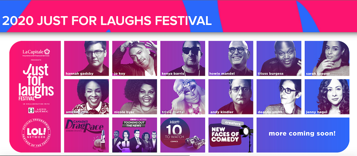 Just For Laughs 2020 festival, now virtual and free for all