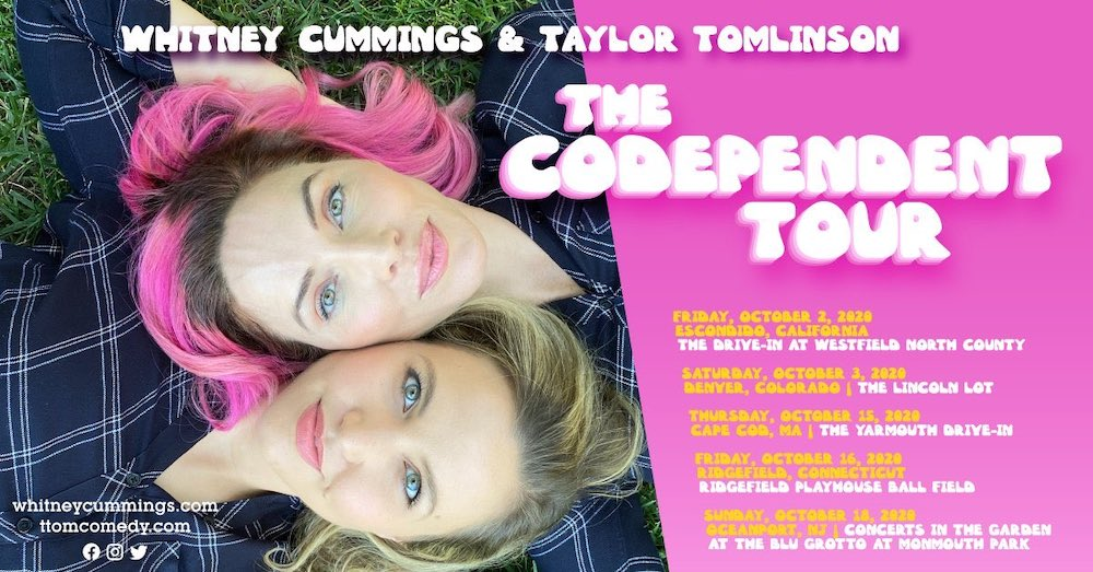 "Whitney Cummings and Taylor Tomlinson Announce Outdoor ""Co-Dependent Tour"" for October 2020"