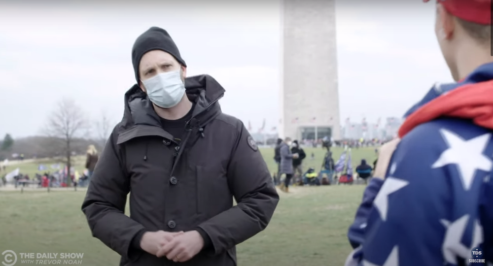 Jordan Klepper reported on the scene during the Capitol Hill Insurrection