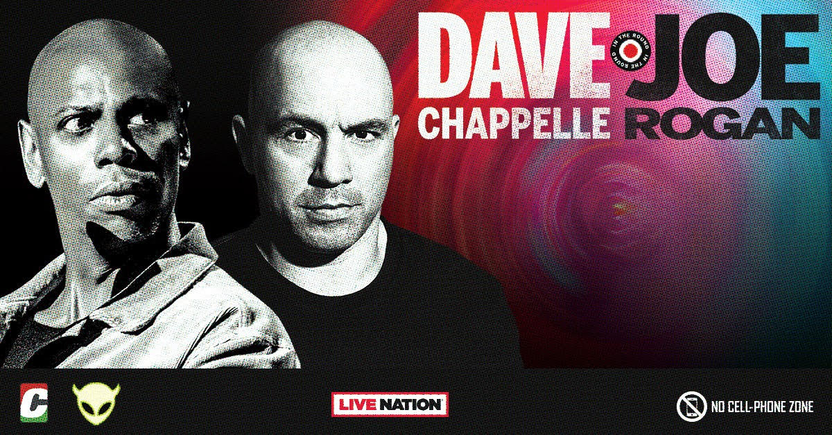 Dave Chappelle and Joe Rogan Book Arenas for 2021 Stand-up Dates
