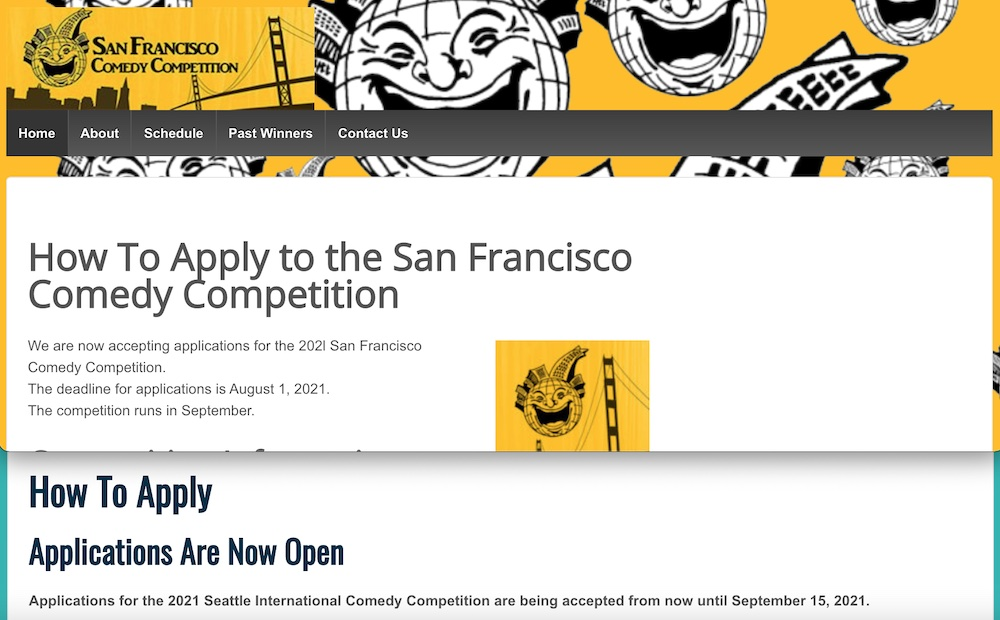 Apply For 2021 Comedy Competitions in San Francisco, Seattle